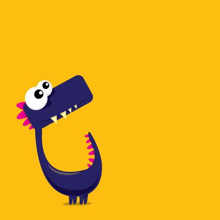 Vector cartoon dragon drôle. Dinosaur Cartoon. Vecteurs