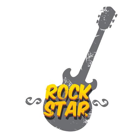 vector hipster cartoon retro label rock star.