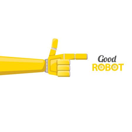 vettore simbolo braccio robotico. Robot mano.