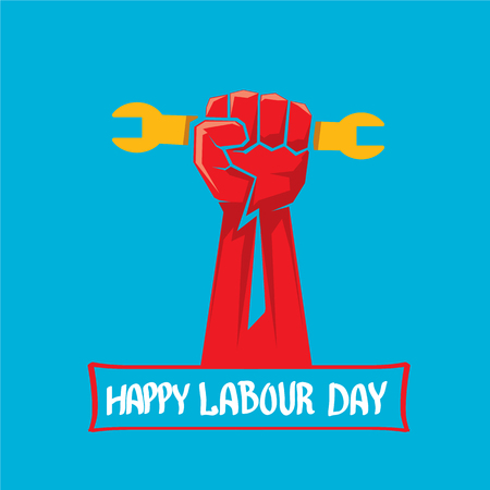 workforce: 1 may - labour day. vector happy labour day poster or workers day banner