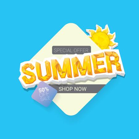 vector summer sale template banner. Illustration