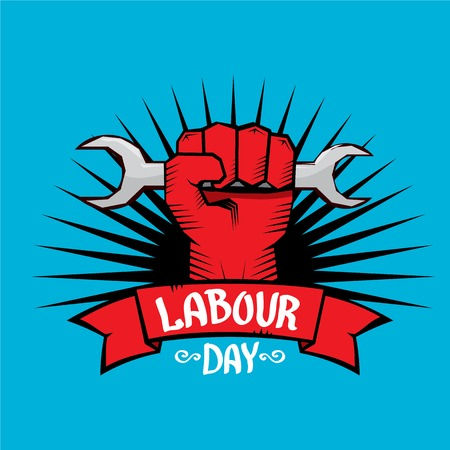 human rights: 1 may - labour day. vector labour day poster