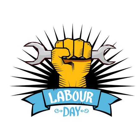 1 月 - 労働者の日。労働の日ポスターをベクトルします。  イラスト・ベクター素材