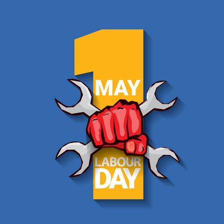 gewerkschaft: Happy labour day vector label