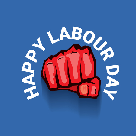 Happy labour day vector label