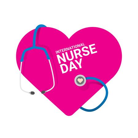 Vector international nurse day vector label.
