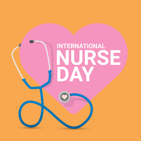 International nurse day vector label