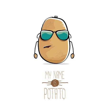 Vector de dibujos animados divertido patata marrón lindo Foto de archivo - 78080639