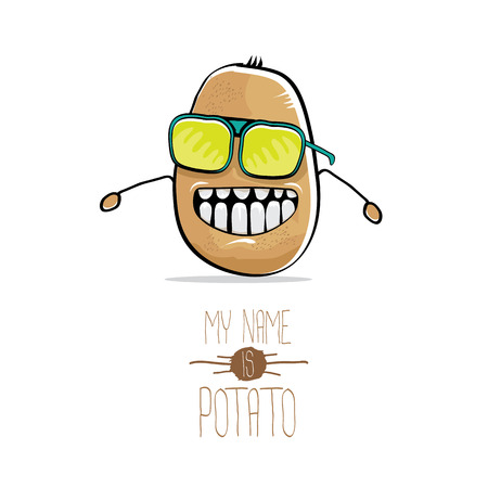 vector funny cartoon cute brown potato