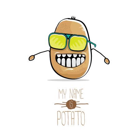 Vector dibujos animados divertido patata marrón lindo Foto de archivo - 78457448