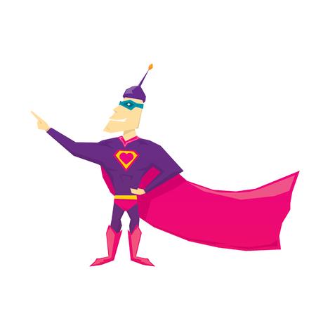 vector funny comic super hero