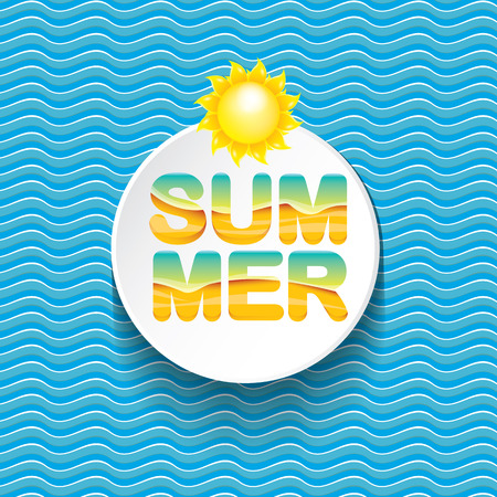 vector summer sale bright label design template .