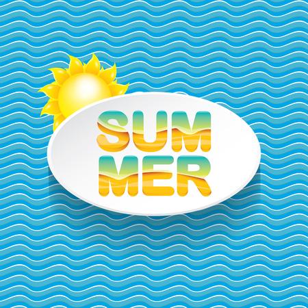 wave hello: vector summer sale bright label design template .