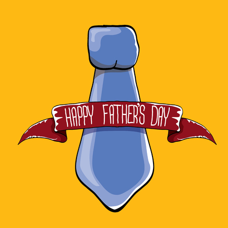happy fathers day vector cartoon greeting card