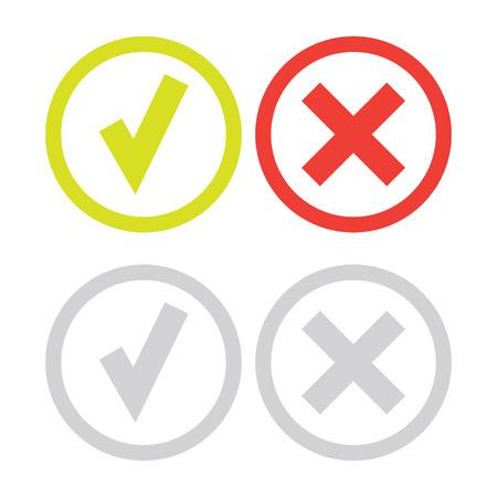 line green check mark or check box icons set