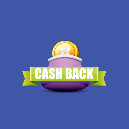 vector cash back icon with coins and wallet