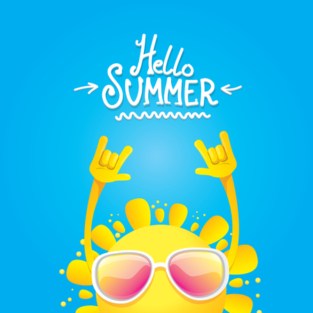 hello summer rock n roll poster. summer party