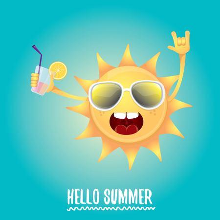 hello summer rock n roll vector label or logo. Stock Photo