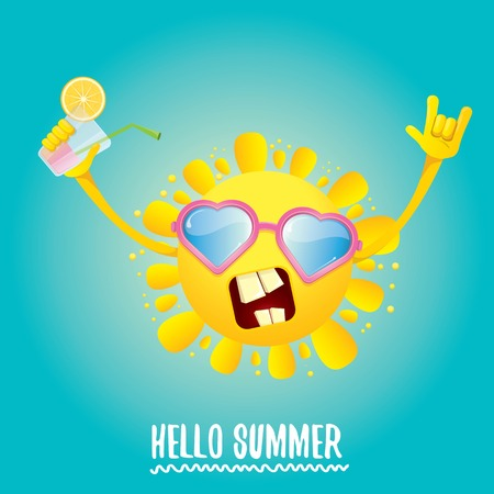 hello summer rock n roll vector label or logo. Stock Photo