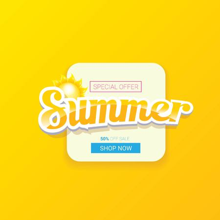 vector special offer summer label design template