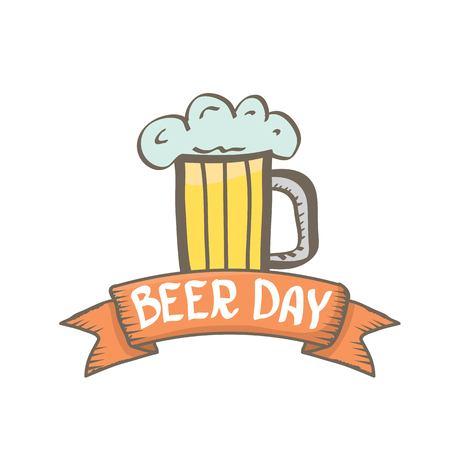 international beer day vector background. orange beer vector layout. happy beer day vector graphic poster. Illustration