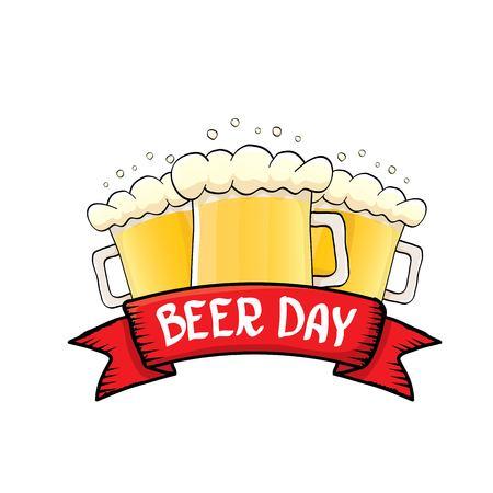 international beer day vector label