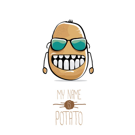 Vector funny cartoon cute brown potato Foto de archivo - 83184709