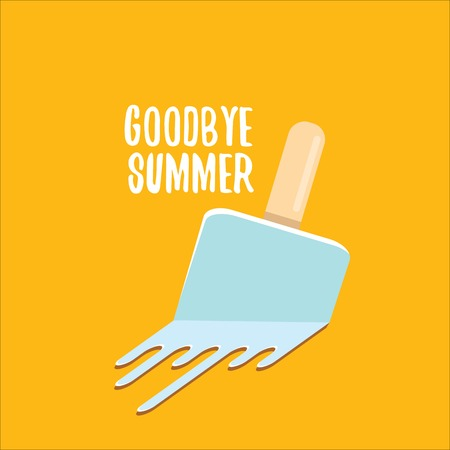 vector goodbye summer concept illustration