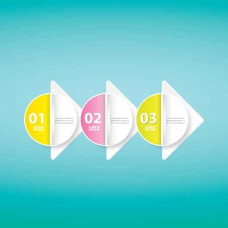 vector clean modern white Infographic banners