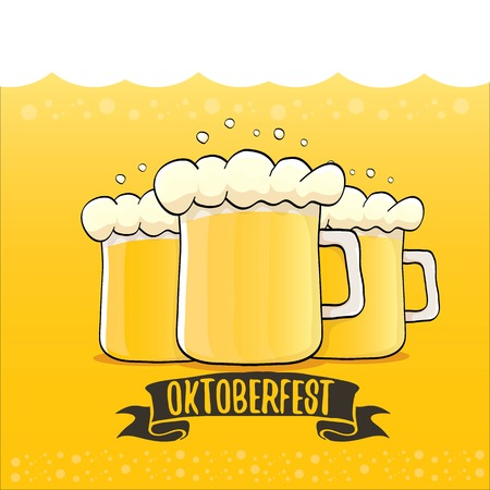 vector oktoberfest vector label on orange beer