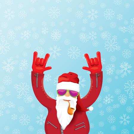 DJ de Kerstman met pijp.
