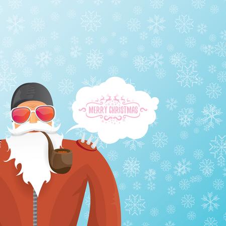DJ de Kerstman met het ontwerp van de pijpkerstkaart.