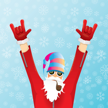 Christmas hipster poster for party or greeting card