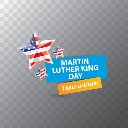vector Martin Luther King Jr day sticker or label isolated on transparent background. Martin Luther King Jr day vector background Illustration