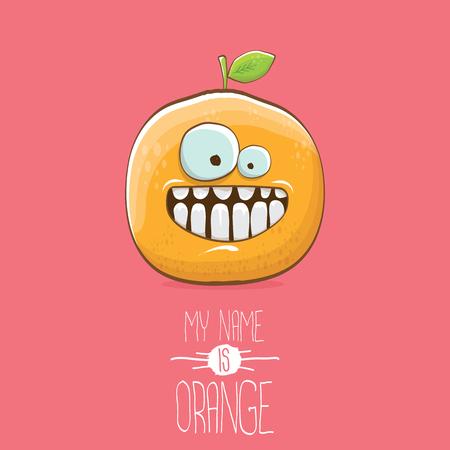 Vector funny cartoon cute orange character