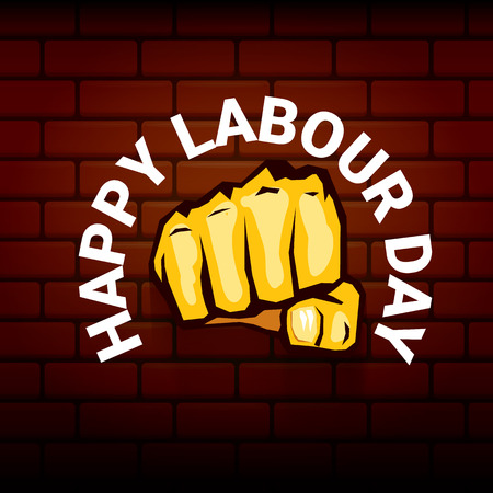Happy labor day template design Illustration