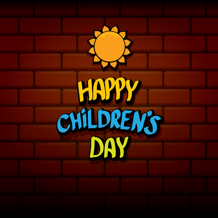 1 june international childrens day background. Children day label or greeting card. kids day poster Illustration