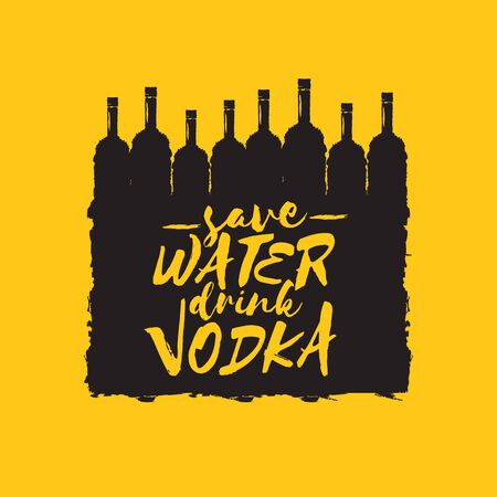 Save Water Drink Vodka Funny Quotes About Vodka With Glass