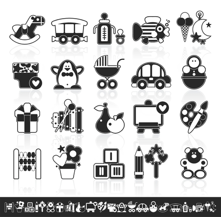 scores: grayscale baby icons
