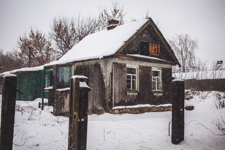wood abandoned: An old abandoned wood house