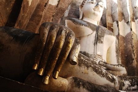 Giant Ancient Buddha Statue photo