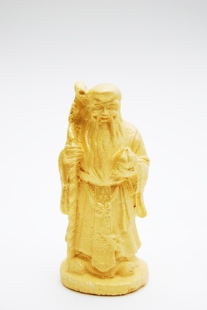 fengshui: Golden Fengshui Hok Lok Siew Statue Isolated