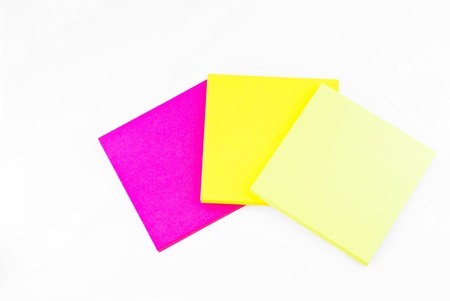 Colorful paper notes memo isolated on white background Stock Photo - 7977290