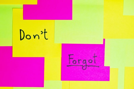 note pad reminder busy do not forgot on wall background photo