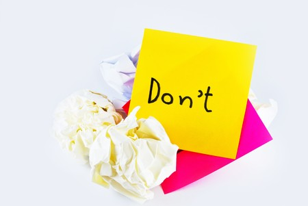 wrinkled paper with note pad reminder  Stock Photo - 8043390