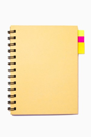 small notebook isolated photo