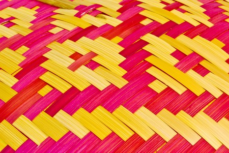 vintage colorful thai mat pattern background texture photo