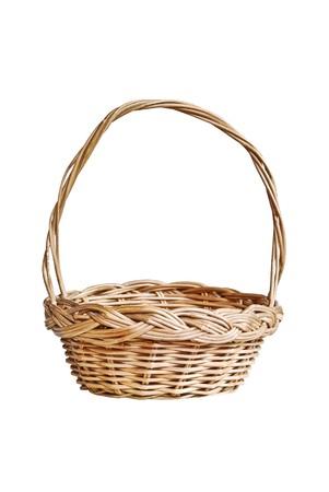 interleaved: vintage weave basket isolated on white background