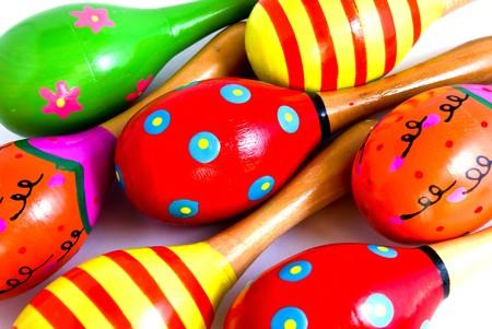 colorful maracus background photo