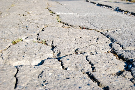 Cracked road flooring texture background photo
